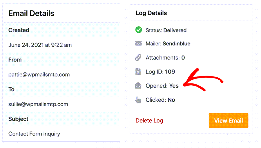Open Click Tracking Of Email Log In WordPress