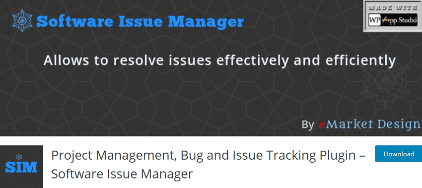 Project Management, Bug and Issue Tracking Plugin – Software Issue Manager