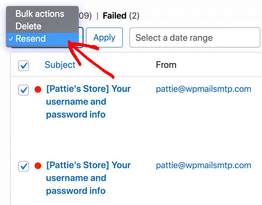 Resend WordPress Bulk Email