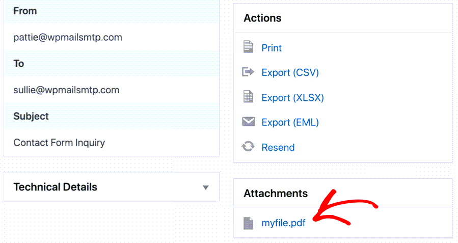 Send Email Pdf Attatchmet In WordPress
