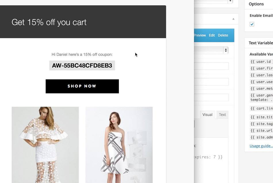 Send targeted multi-step campaigns & offer To Recover Abandoned Card