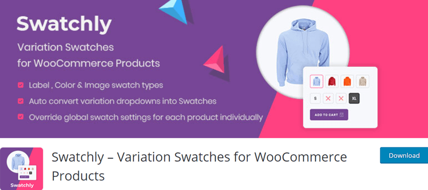 Swatchly Variation Swatches for WooCommerce Products