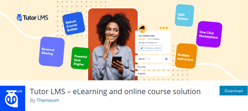 Tutor LMS eLearning and online course solution