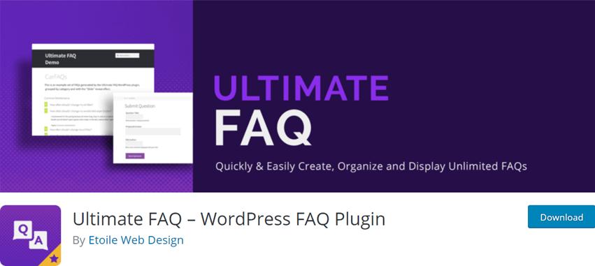 Ultimate FAQ – WordPress FAQ Plugin