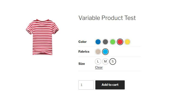 Variation Swatches for WooCommerce Demo