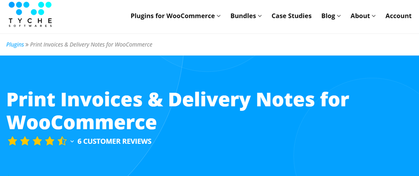 tychesoftwares Print Invoices & Delivery Notes for WooCommerce