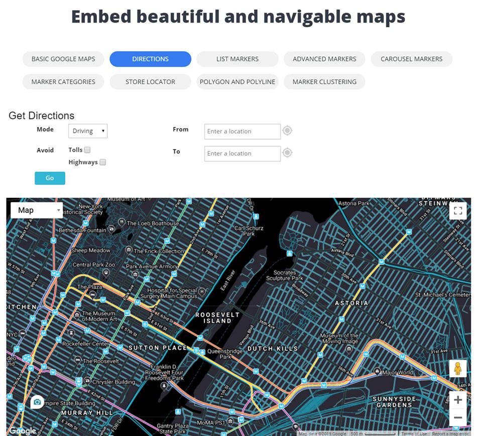 10Web Google Map Edit Demo