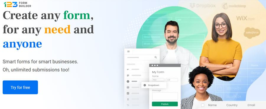 123 Form Builder Create any form, for any need and anyone