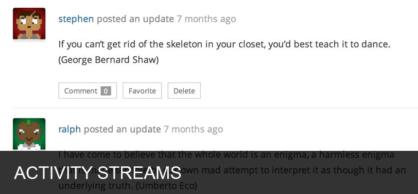 Activity Strems Forums Screenshot