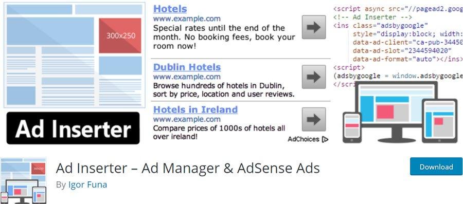 Ad Inserter – Ad Manager & AdSense Ads