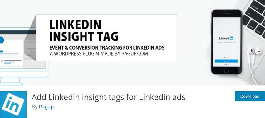 Add Linkedin insight tags for Linkedin ads
