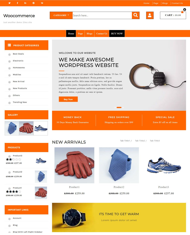 Advance Ecommerce Store Theme Screenshot
