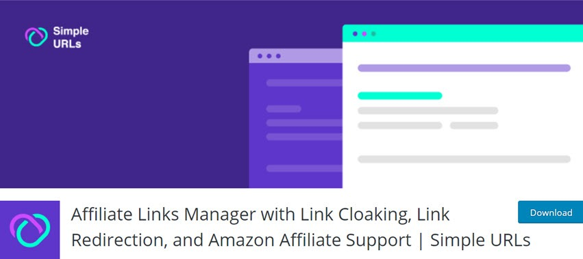Affiliate Links Manager with Link Cloaking, Link Redirection, and Amazon Affiliate Support Simple URLs
