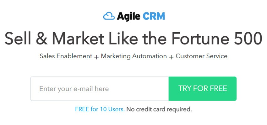 Agile CRM Sell & Market Like the Fortune 500