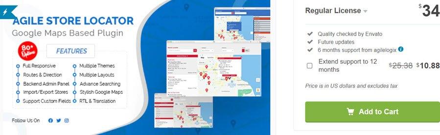 Agile Store Locator (Google Maps) For WordPress