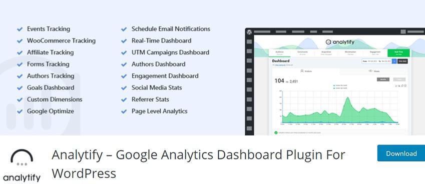 Analytify – Google Analytics Dashboard Plugin For WordPress