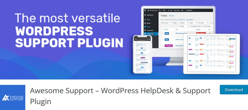 Awesome Support – WordPress HelpDesk & Support Plugin