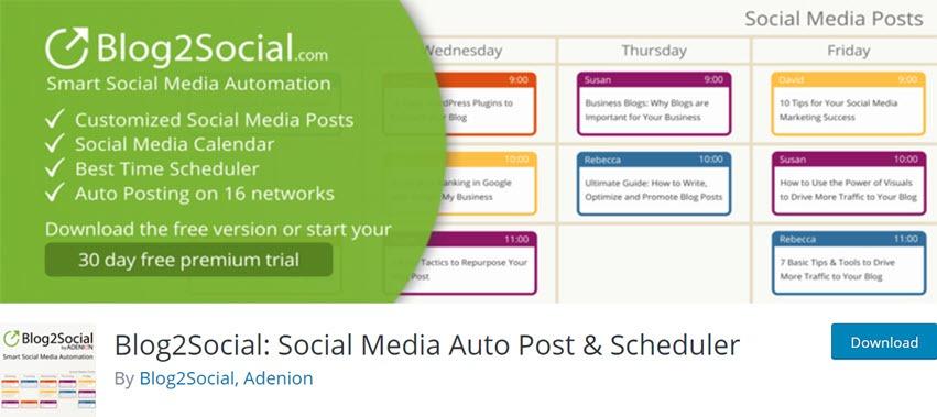 Blog2Social Social Media Auto Post & Scheduler