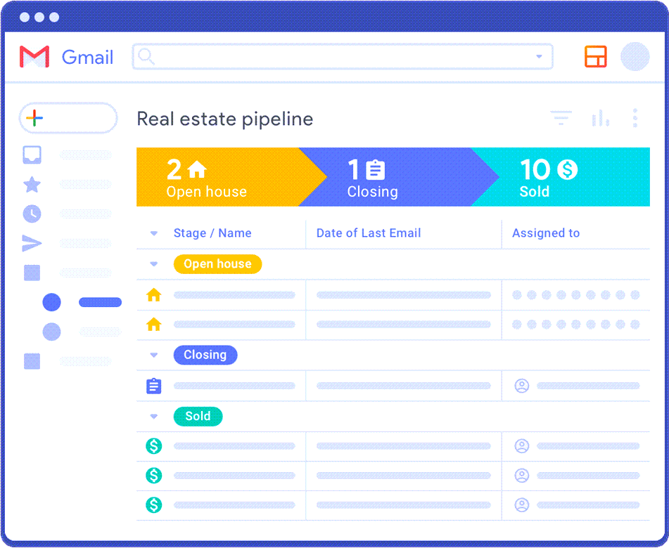 CRM Built In Gmail Real Estate Pipeline