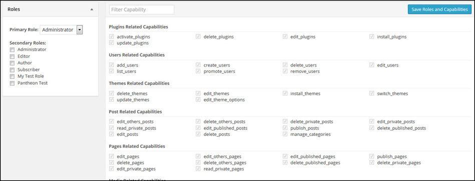Change User Role And Capabilities Screenshot
