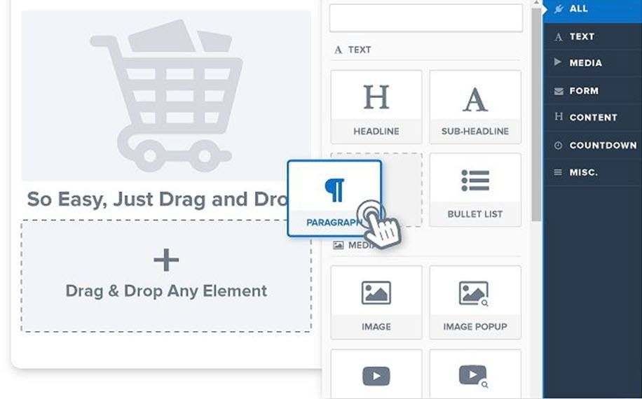 ClickFunnels Drag And Drop Page Builder