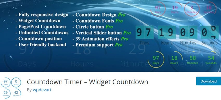 Countdown Timer Widget Countdown