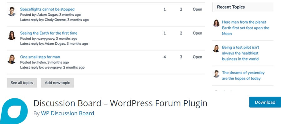 Discussion Board – WordPress Forum Plugin