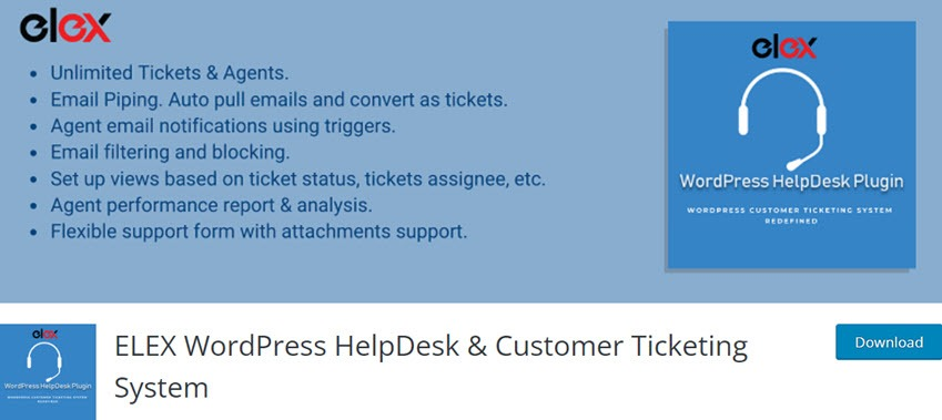 ELEX WordPress HelpDesk & Customer Ticketing System