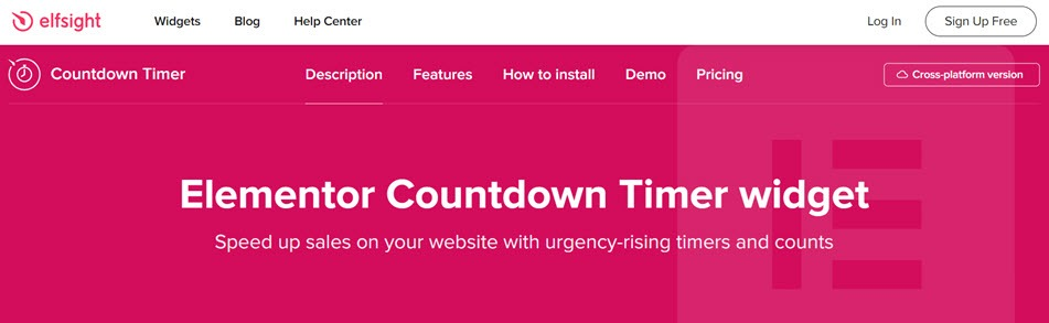 Elementor Countdown Timer widget Speed up sales on your website with urgency-rising timers and counts