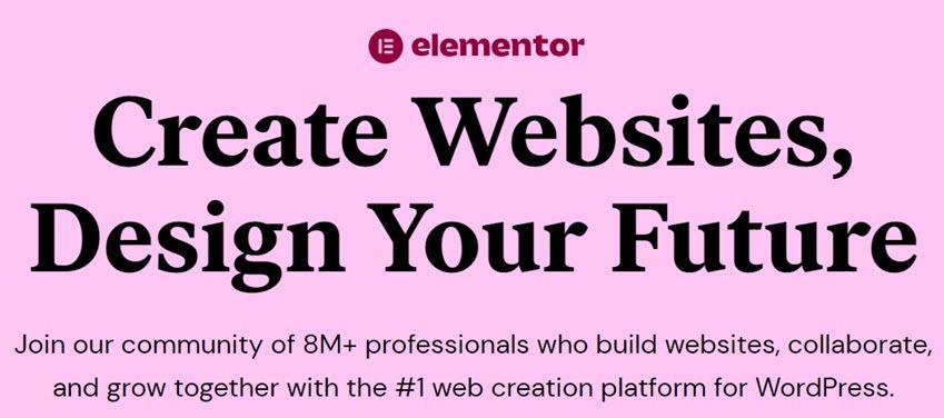 Elementor Create Websites