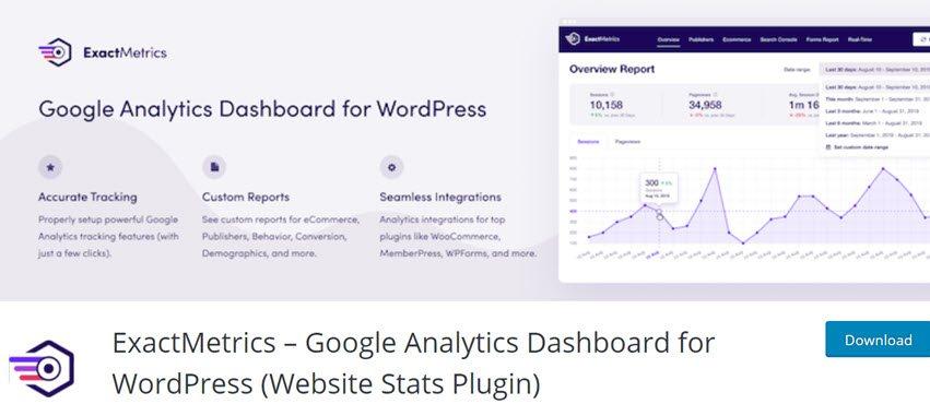 ExactMetrics – Google Analytics Dashboard for WordPress (Website Stats Plugin)