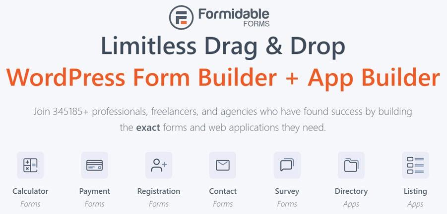 Formidable Forms Limitless Drag & Drop WordPress Form Builder + App Builder