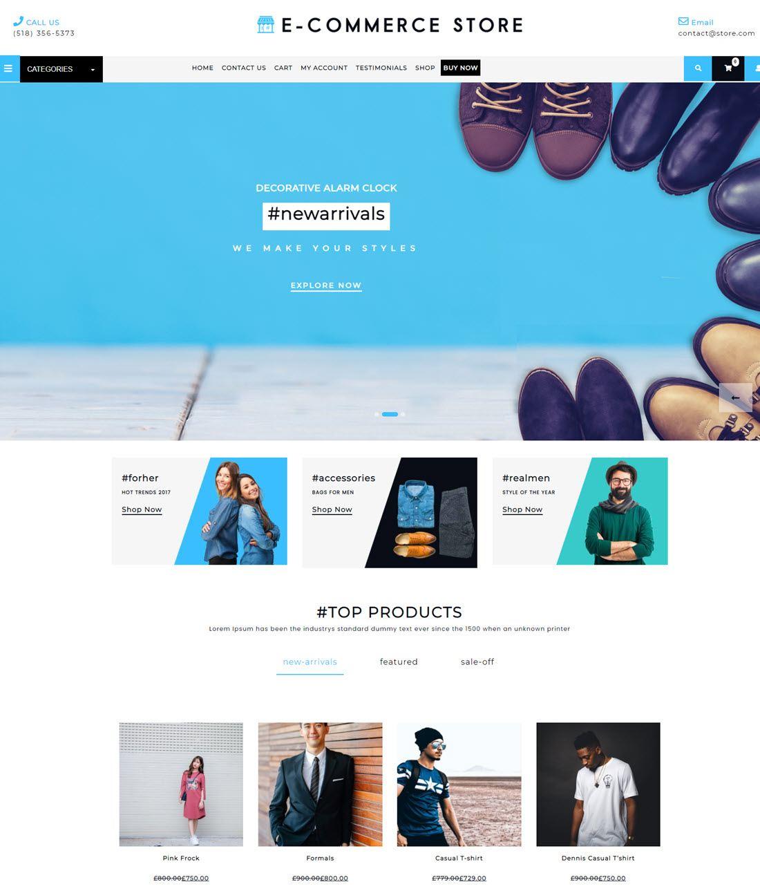 Free Ecommerce WordPress Store Template