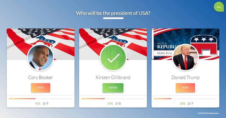 Grid Style Voting Option Demo