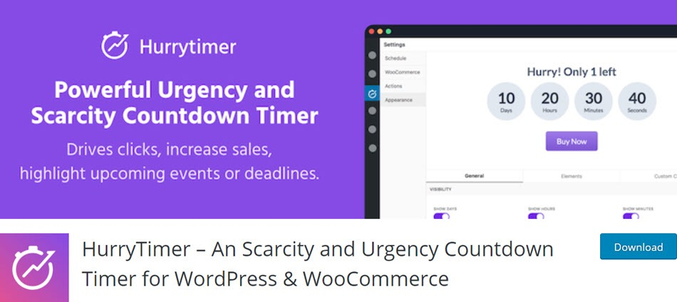 HurryTimer An Scarcity and Urgency Countdown Timer for WordPress & WooCommerce