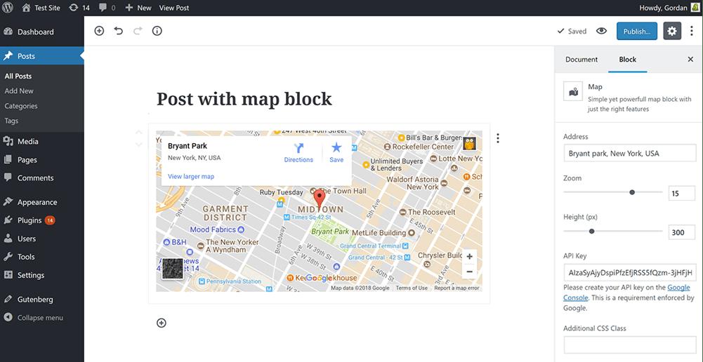 Map Block In Action Screenshot