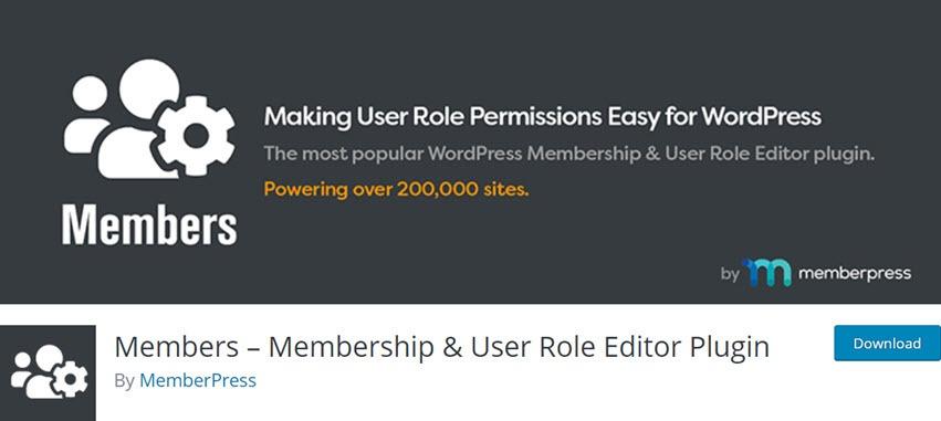 Members – Membership & User Role Editor Plugin
