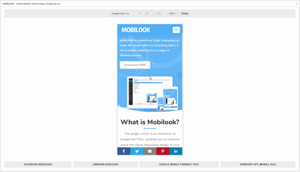 MobiLook Setting Page