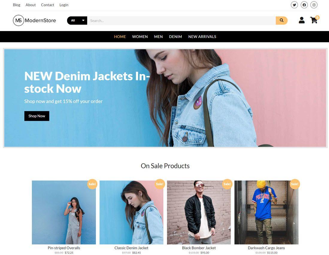 Modern Store WordPress Theme A clean & modern eCommerce theme
