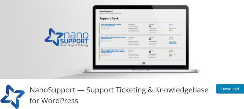 NanoSupport — Support Ticketing & Knowledgebase for WordPress