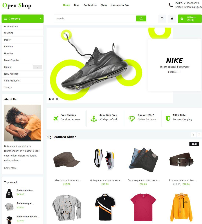 One Shop WordPress Theme Demo