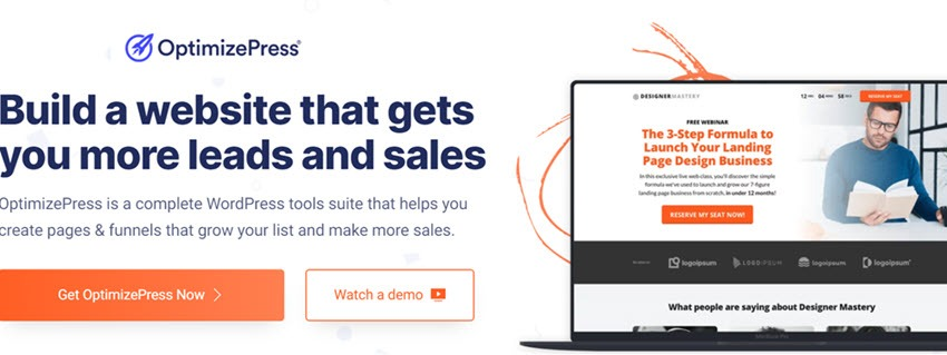OptimizePress Build a website that gets you more leads and sales