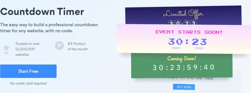 POWR Countdown Timer The easy way to build a professional countdown timer for any website, with no code