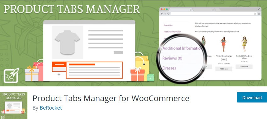 Product Tabs Manager for WooCommerce