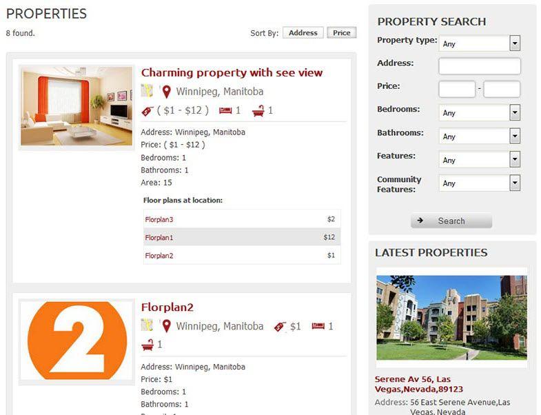 Property Listing Screenshot