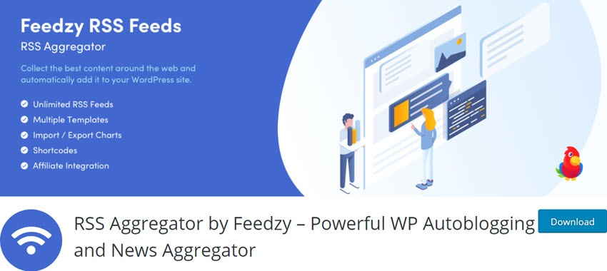 RSS Aggregator by Feedzy – Powerful WP Autoblogging and News Aggregator