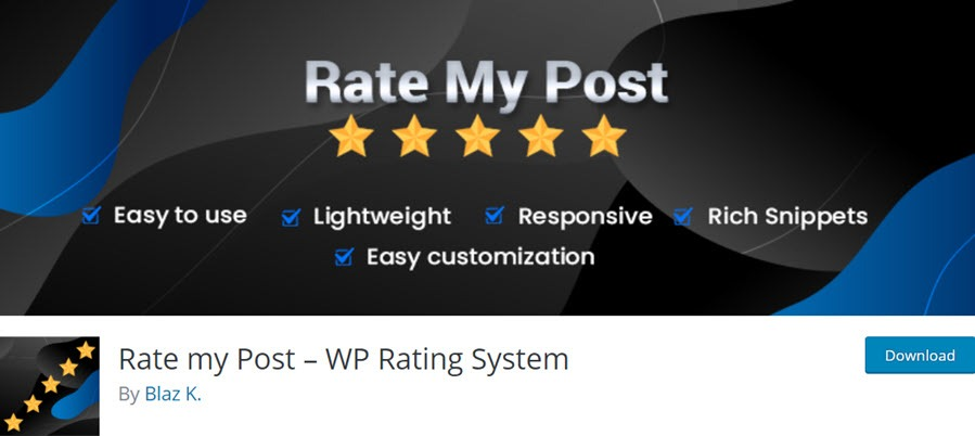 Rate my Post – WP Rating System