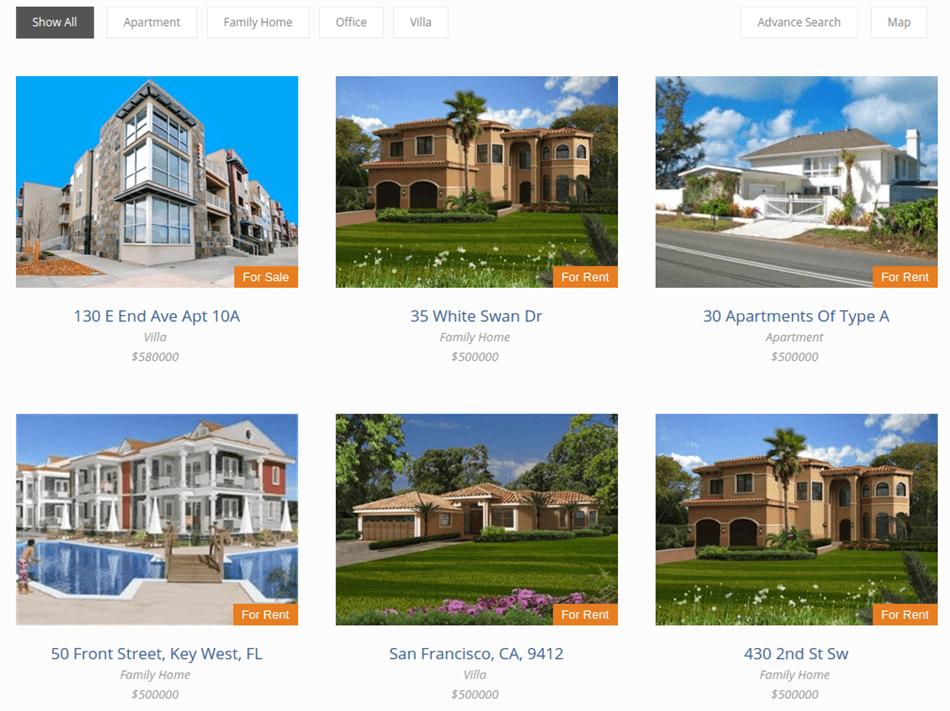 Real Estate Pro List View Screenshot