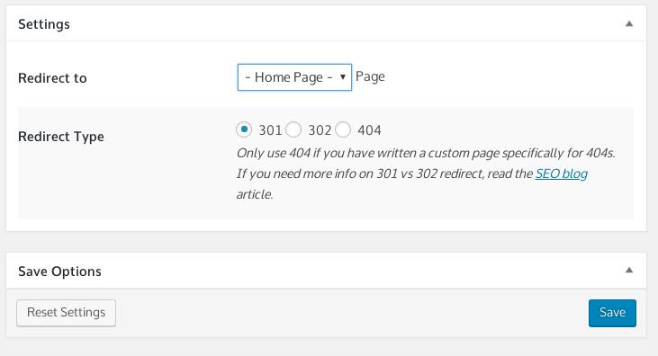 Redirect 404 Error Page Admi Page screenshot