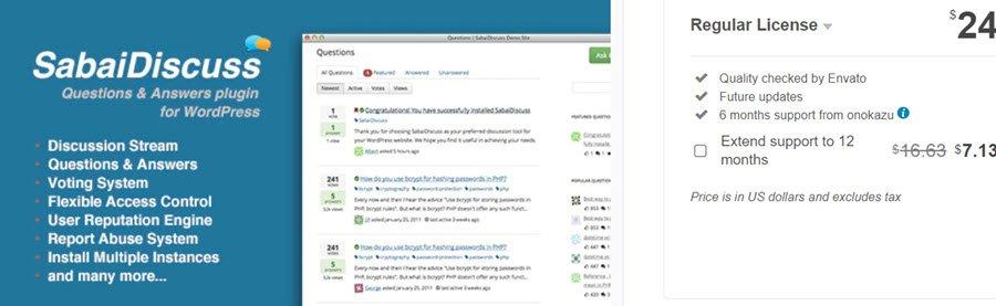 Sabai Discuss - Q&A forum plugin for WordPress